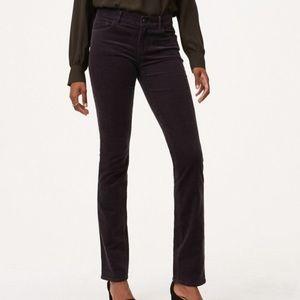 NWT LOFT Modern Straight Corduroy Pants